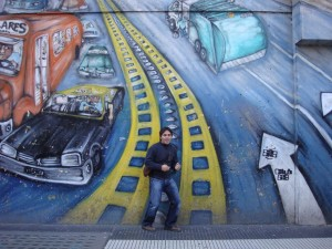 graffiti en avda. de mayo