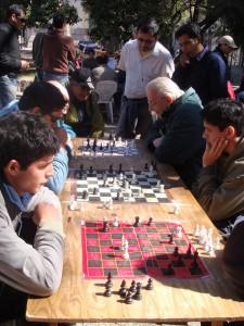 ajedrez en la calle de cordoba, argentina