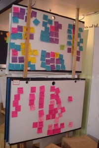 d.school_pizarras portatiles con post-it