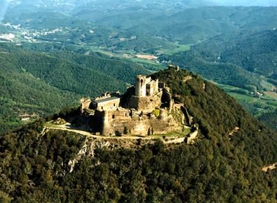 Castell de Montsoriu en comarca de la Selva
