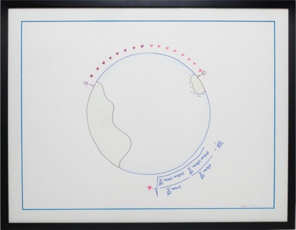 The Search Bubble vista en dibujo